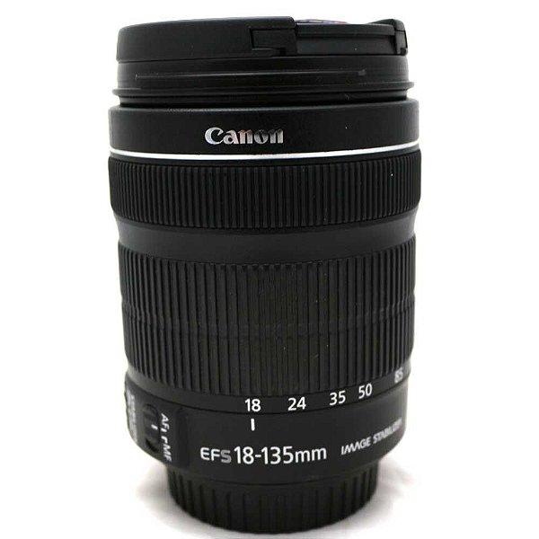 Lente Canon EF-S 18-135mm f/3.5-5.6 IS STM Seminova