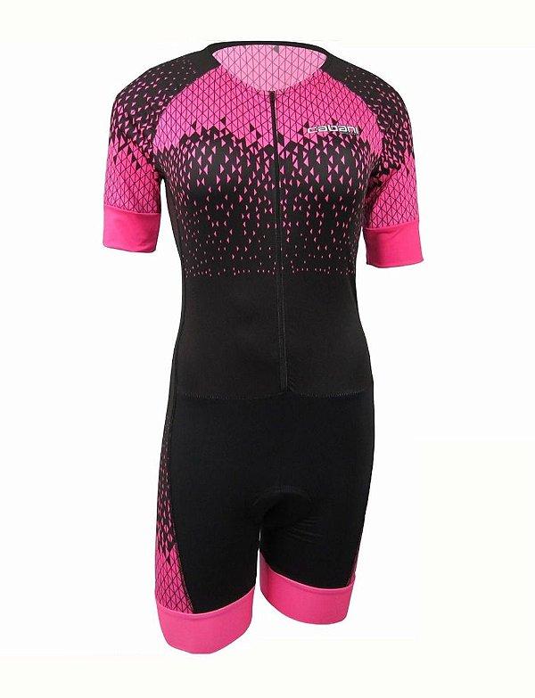 Macaquinho Ciclismo Feminino Cabani Forro 3d Rosa Bike Mtb Speed