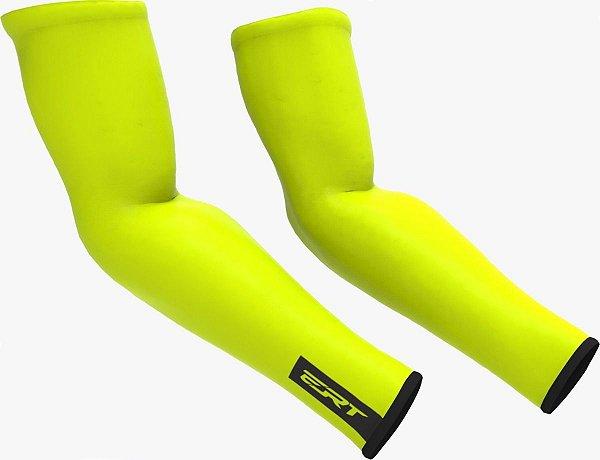Manguito De Ciclismo Ert Verão Amarelo Fluor Bike Speed Mtb