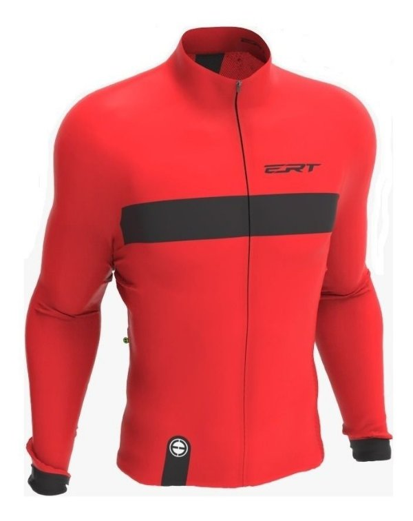 Camisa Manga Longa Ciclismo Ert New Tour Strip Red Mtb Speed