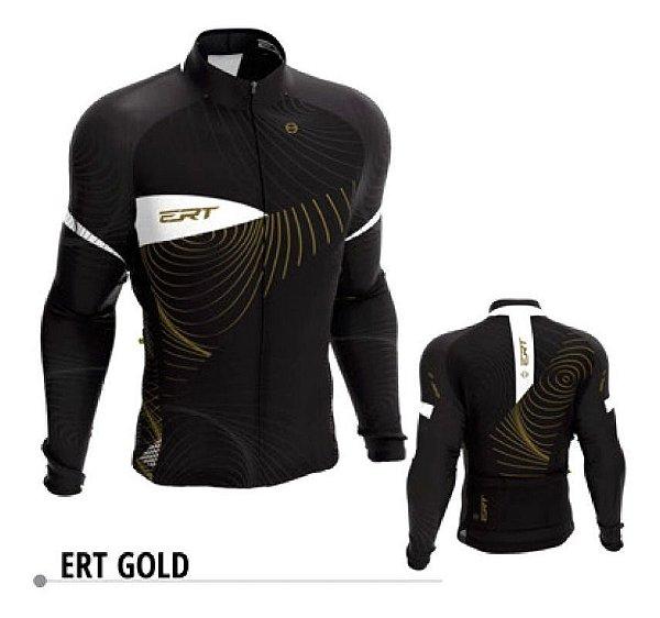 Camisa Manga Longa Ciclismo Ert Gold Nova Tour Ziper Full