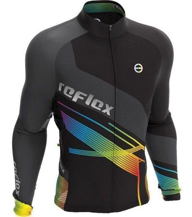 Camisa Manga Longa Ciclismo Ert New Tour Reflex Mtb Speed