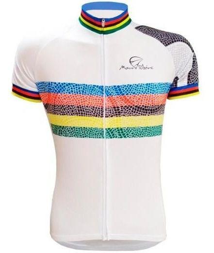 Camisa Ciclismo Esprit Mauro Ribeiro Branca Bike Mtb Speed