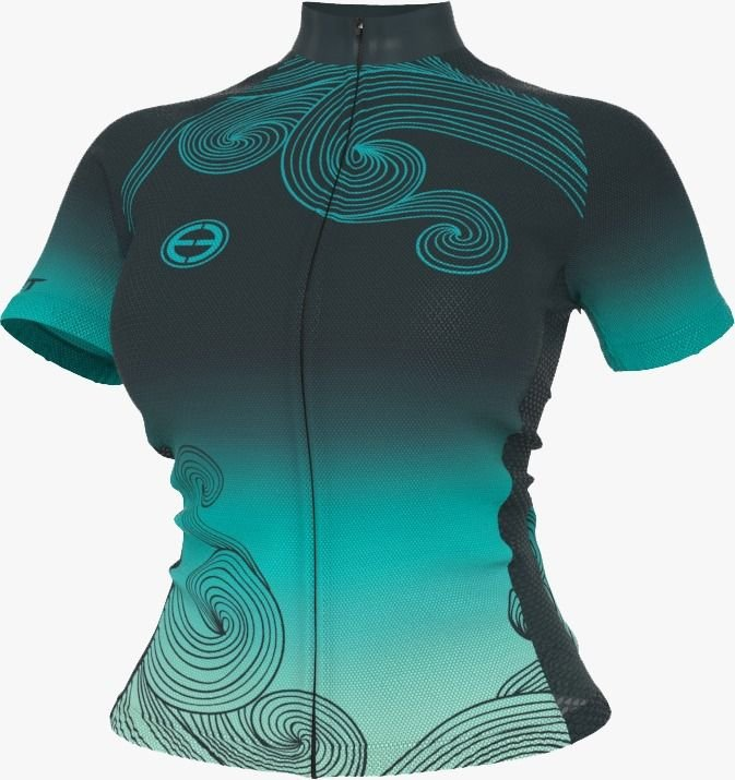 Camisa Ciclismo Ert Ocean New Tour Ziper Full Mtb Speed