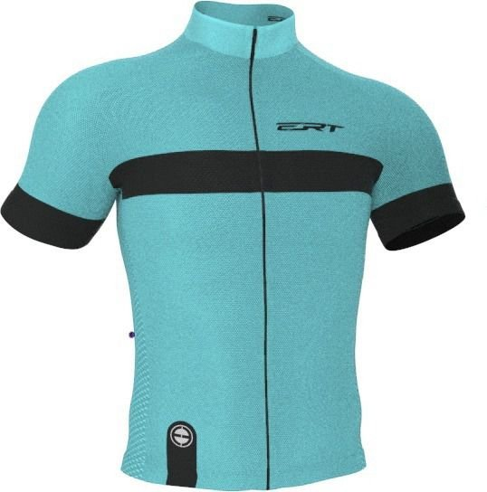 Camisa Ciclismo Ert New Tour Strip Turquesa 4.0 Mtb Speed