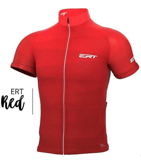 Camisa Ciclismo Ert New Tour Red Bike Mtb Speed