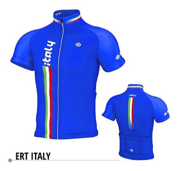 Camisa Ciclismo Ert Italy New Tour Ziper Full