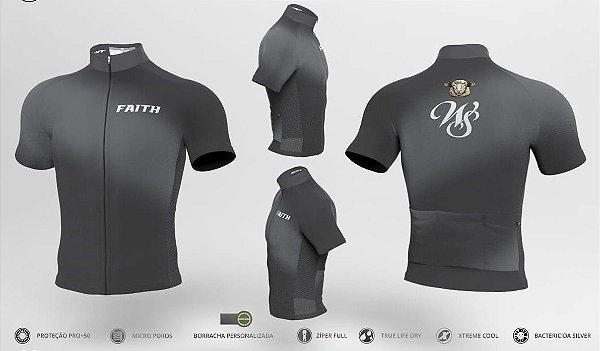 Camisa Ciclismo Ert Faith Cinza New Tour Ziper Full Bike
