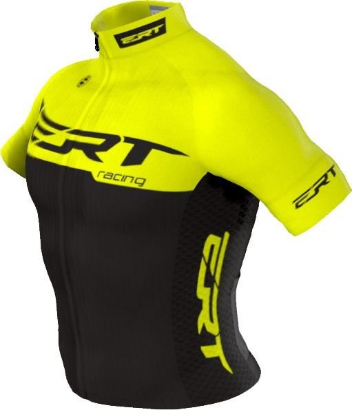 Camisa Ciclismo Ert Elite Racing Yellow Bike Slim Fit