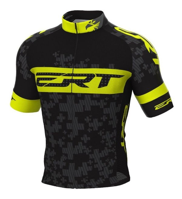 Camisa Ciclismo Ert Elite Amarelo Flúor Mtb Speed Slim Fit