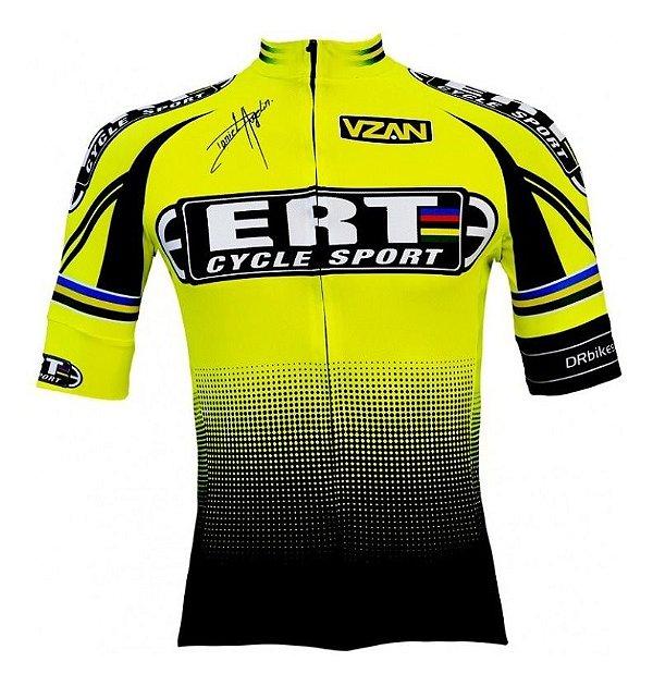 Camisa Ciclismo Ert Elite Amarela Bike Slim Fit