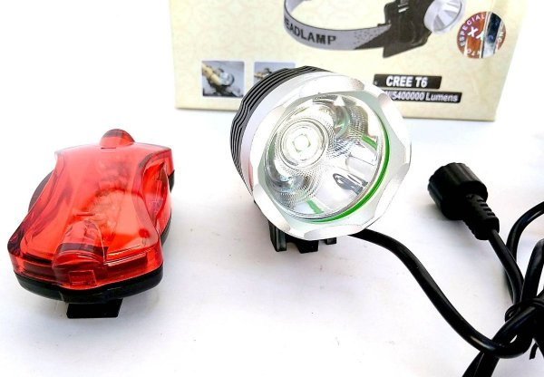Farol Lanterna Bike Bicicleta Led T6 Bateria 6 Cel+brinde