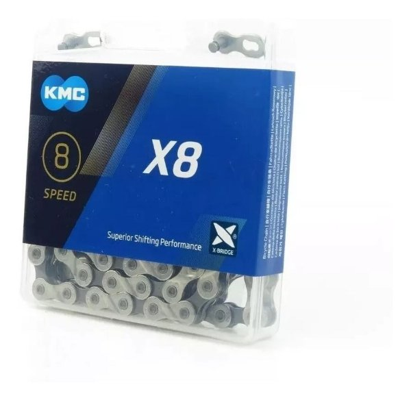 Corrente Kmc X8 C/ Missing Link 116 Links 6v 7v Ou 8v