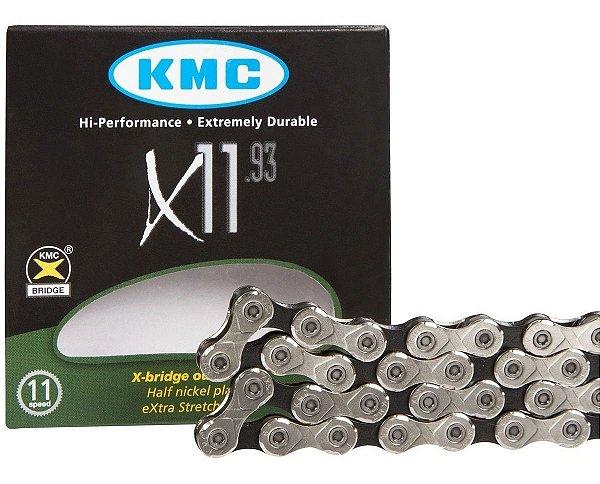 Corrente Kmc X11 Silver 11v 116links Prata Bike Mtb Speed