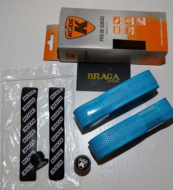 Fita Guidao Kode 2.0 Azul 2mm Bicicleta Bike Speed Road