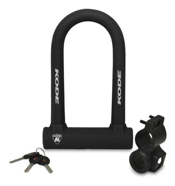 Cadeado Kode U-lock Super Reforçado Com Chave + Suporte Bike