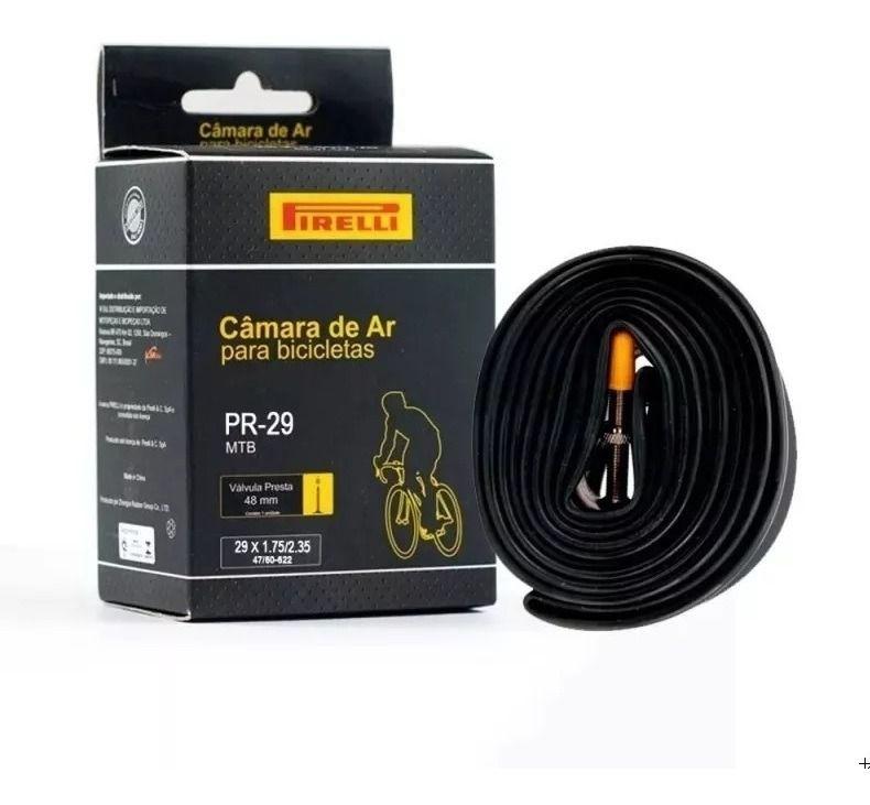 Câmara De Ar Bike Pirelli 29 X 1.75/2.35 Presta 48mm Mtb