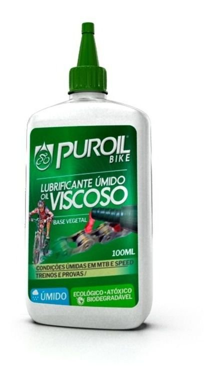 Lubrificante Bicicleta Puroil Bike Úmido Oil Viscoso 100ml