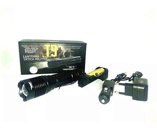 Lanterna Tática Led T9 Xml Clip Cinto 5 Modos Super Compacta