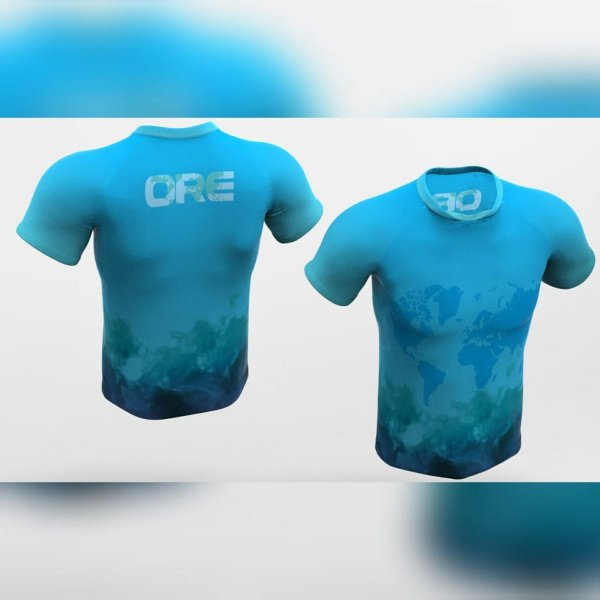 Camisa Dry Corrida Ert Ore Azul Xtreme Cool