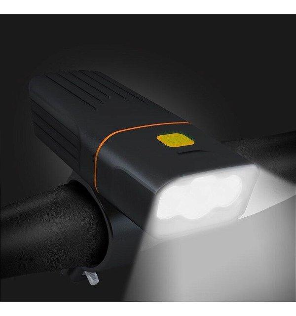 Farol Lanterna Bike Recarregável Usb Led Ws 151 Power Bank