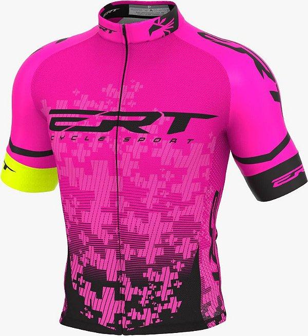 Camisa Ciclismo Elite Ert Team Rosa Slim Fit