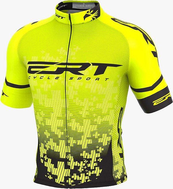 Camisa Ciclismo Elite Ert Team Amarela Slim Fit