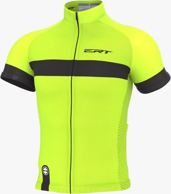 Camisa Ciclismo Ert Nova Tour Strip Green Bike Mtb Speed