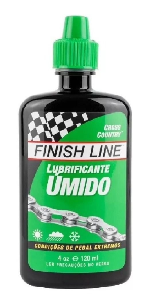 Lubrificante Corrente Finish Line Cross Country Úmido 120ml
