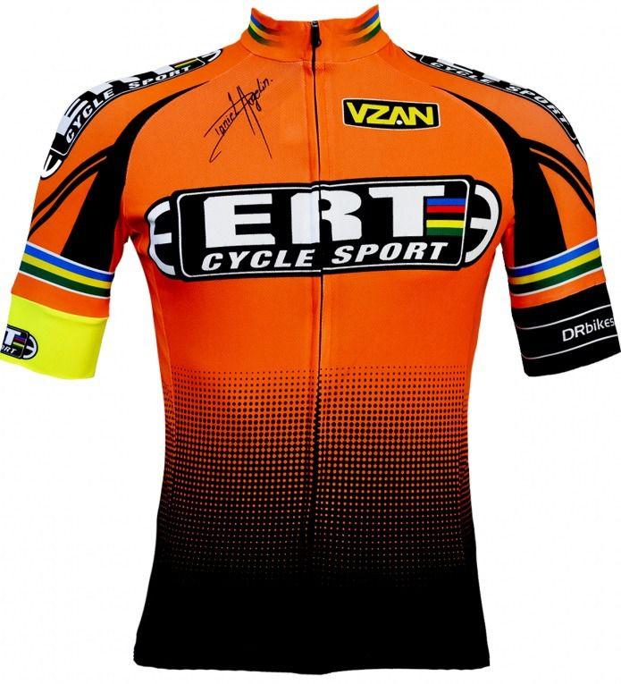 Camisa Bicicleta Ciclismo Ert Elite Laranja Slim Fit