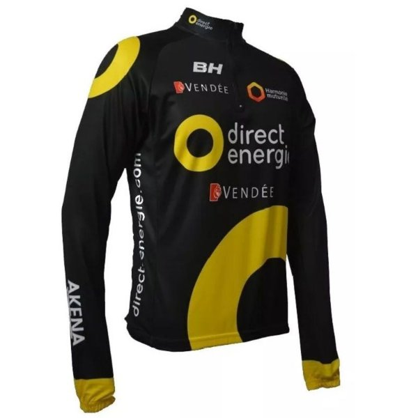 Camisa Ciclismo Manga Longa Ert Direct Energie MTB Speed