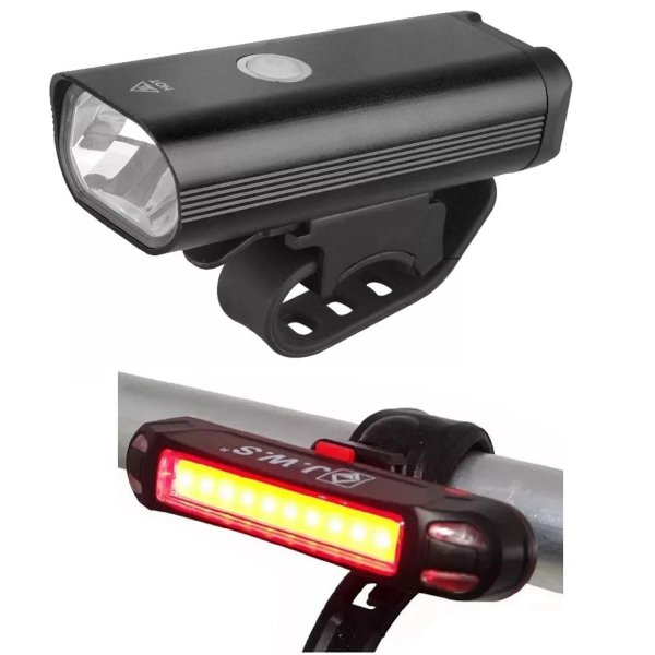 Farol Bike Led CREE + Lanterna traseira Recarregável Usb