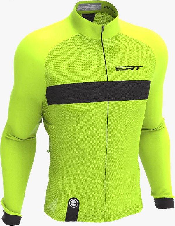 Camisa Manga Longa Ciclismo Ert New Tour Strip Green