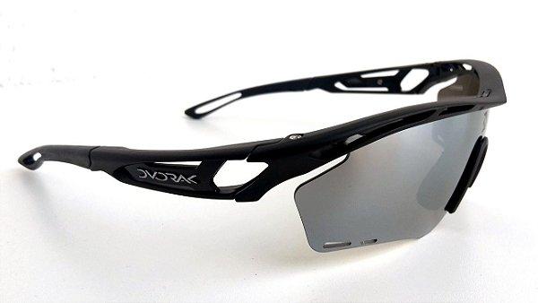 Óculos Ciclismo Dvorak One Preto 3 Lentes Padrão Rudy