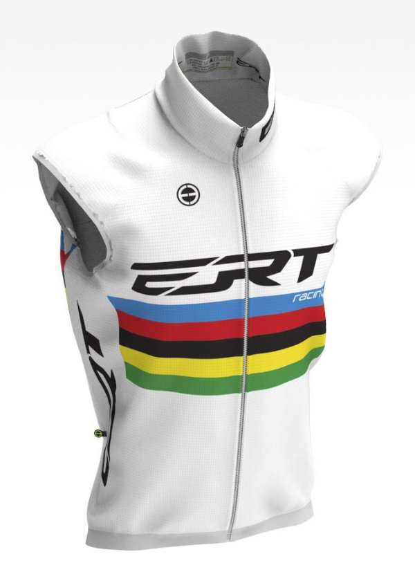 Colete Corta Vento Bike Ert Campeão Mundial Branco Ciclismo