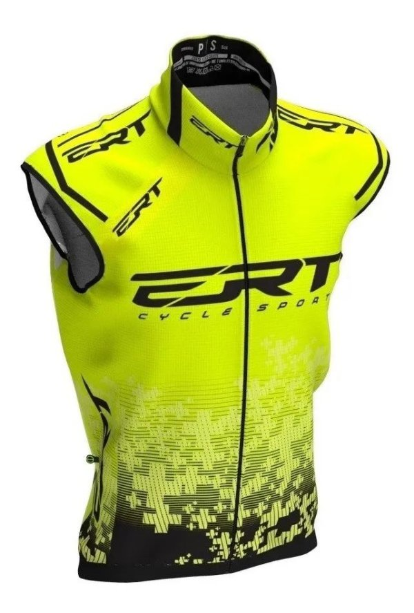 Colete Corta Vento Bike Ert Team Amarelo Novo Ciclismo MTB