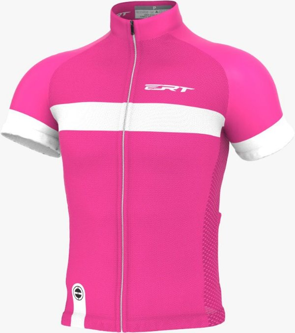 Camisa Ciclismo Ert Nova Tour Strip Pink Bike Mtb Speed