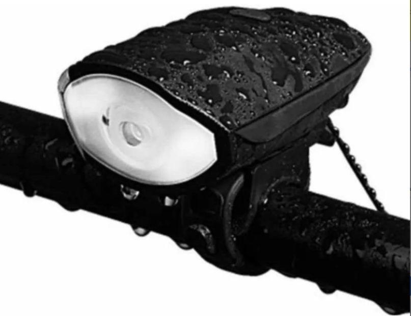 Lanterna Farol Led Bike C/ Buzina 140db Recarregável Usb