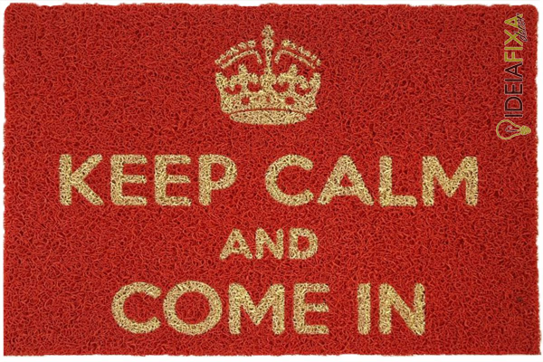 Capacho KEEP CALM AND COME IN