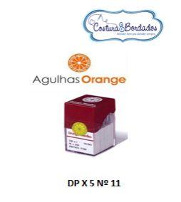 AGULHA ORANGE DP X 5 RETA CABO GROSSO CASEADEIRA Nº 11