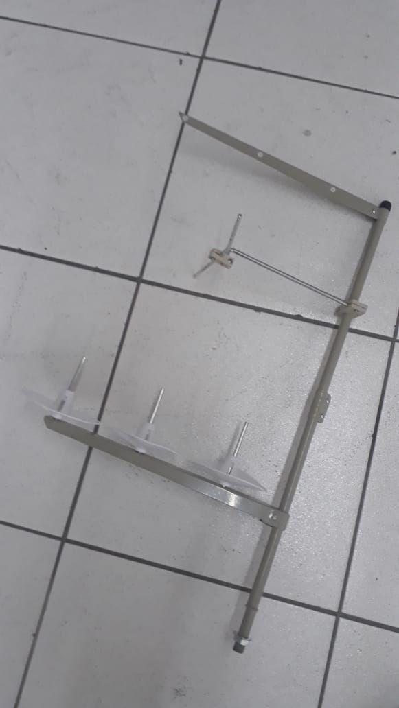 Porta Fio Para Máquina De Costura Overlock 3 PRATOS