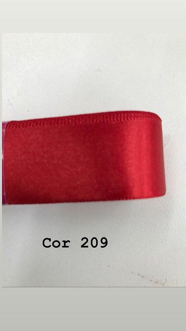 Fita de cetim Numero 1 progresso CF001 COR 209 VERMELHO
