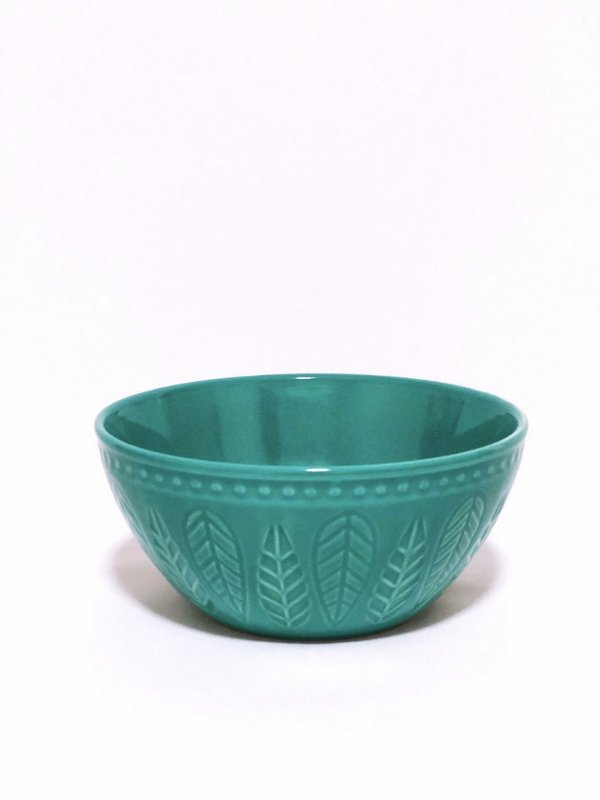 BOWL ALTO RELIEVE VERDE CORONA 550ML