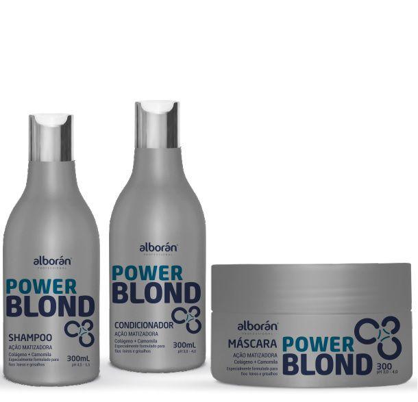 KIT MATIZADOR POWER BLOND (Shampoo 300ml + Condicionador 300ml + Máscara 300gr)