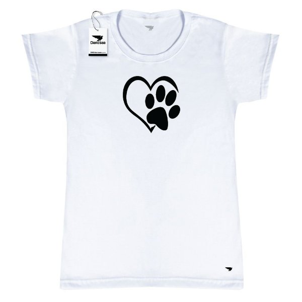 Camiseta Baby Look Darosaa, Pet Cachorro