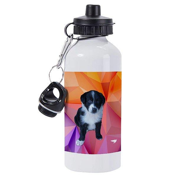 Garrafa Térmica Alumínio Branca 600ml Seu Pet Personalizada