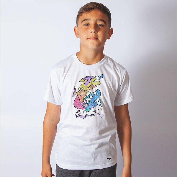 Camiseta Kids Branca José Adilson Art
