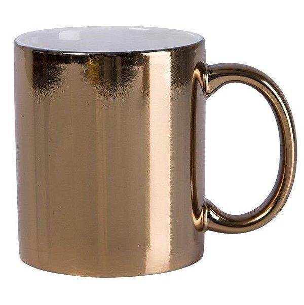 Caneca Dourada metalizada, 325ml