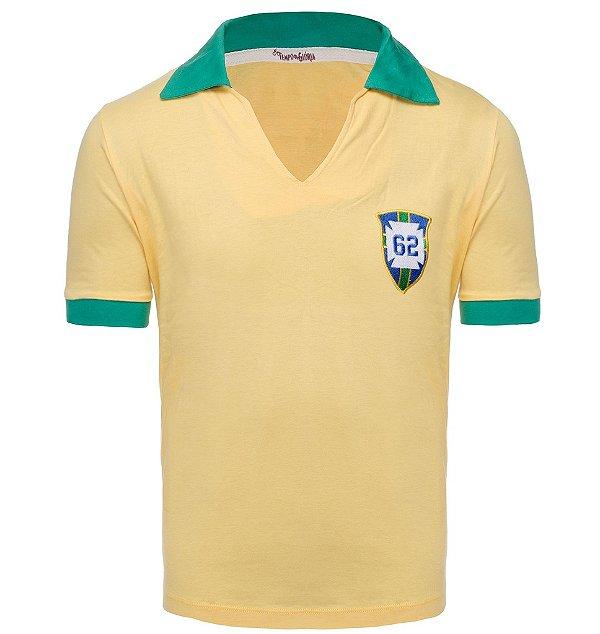 8e77768bd CAMISA DE FUTEBOL RETRÔ - BRASIL 1962 - Torcedor Retrô