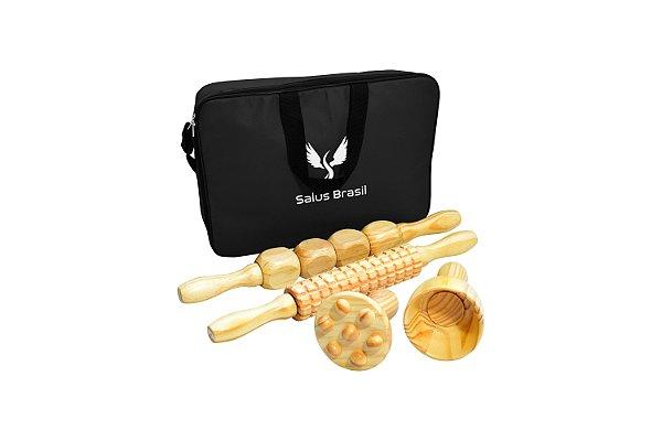 Kit de Massagem Redutora Maderoterapia com 4 peças